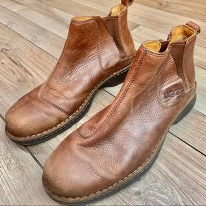 Ugg | Men's Leather Brown Booties | Size 13